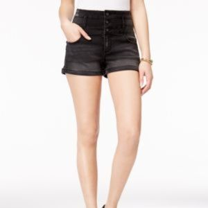 Tinseltown Juniors' Three-button High-waist Denim